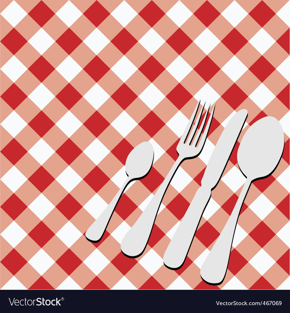 Gingham menu card vector