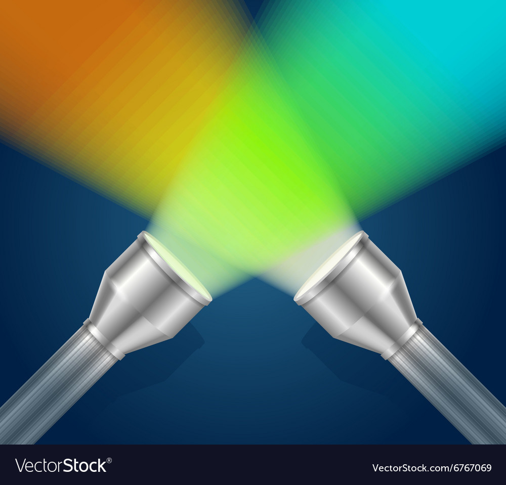 Two pocket torch light vector