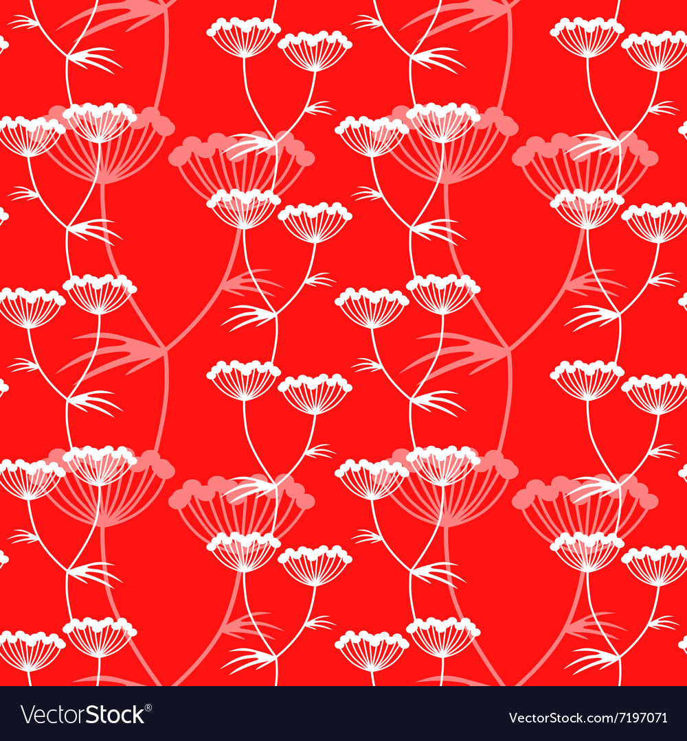 Flower pattern red vector