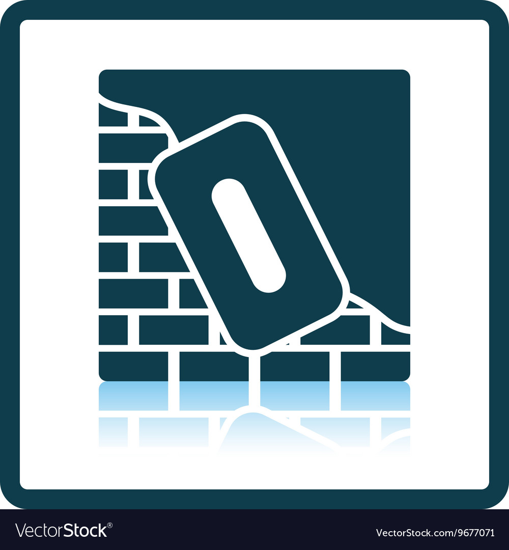 Icon of plastered brick wall vector