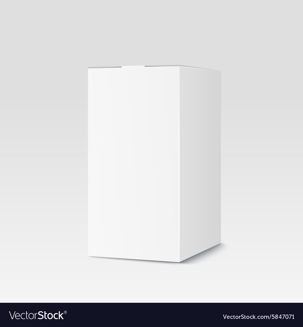 Realistic cardboard box on white background vector