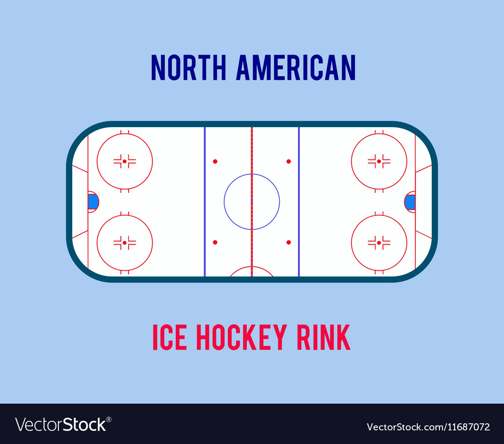 Ice hockey rink isolated on the white vector