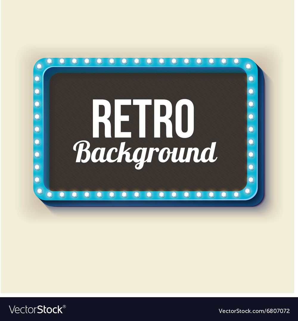 Night retro background with lights vector