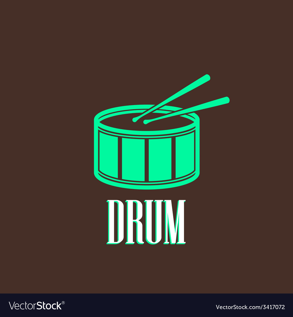 With a drum vector