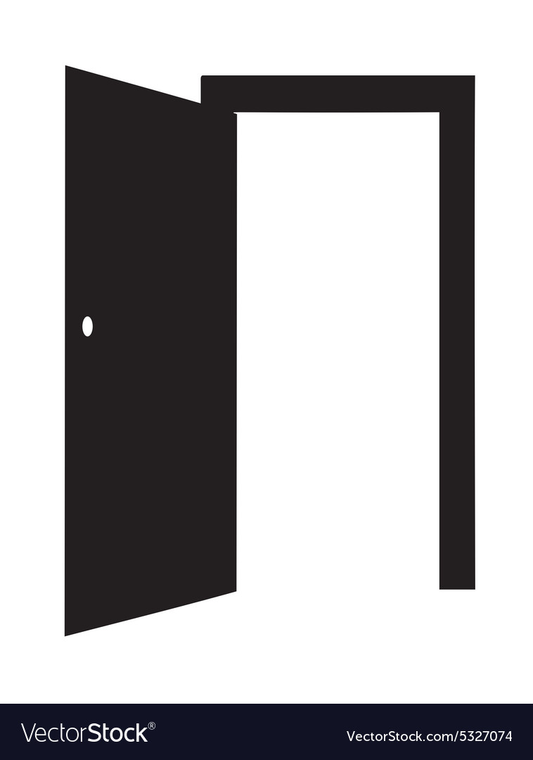 Door open vector
