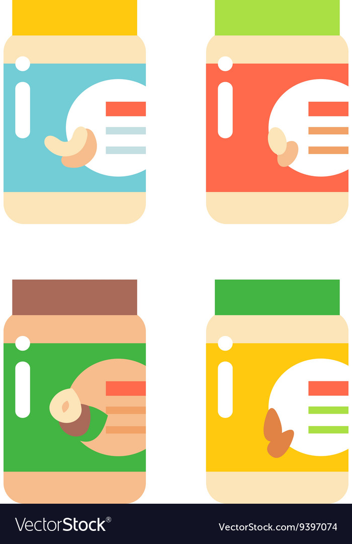 Nut butter vector