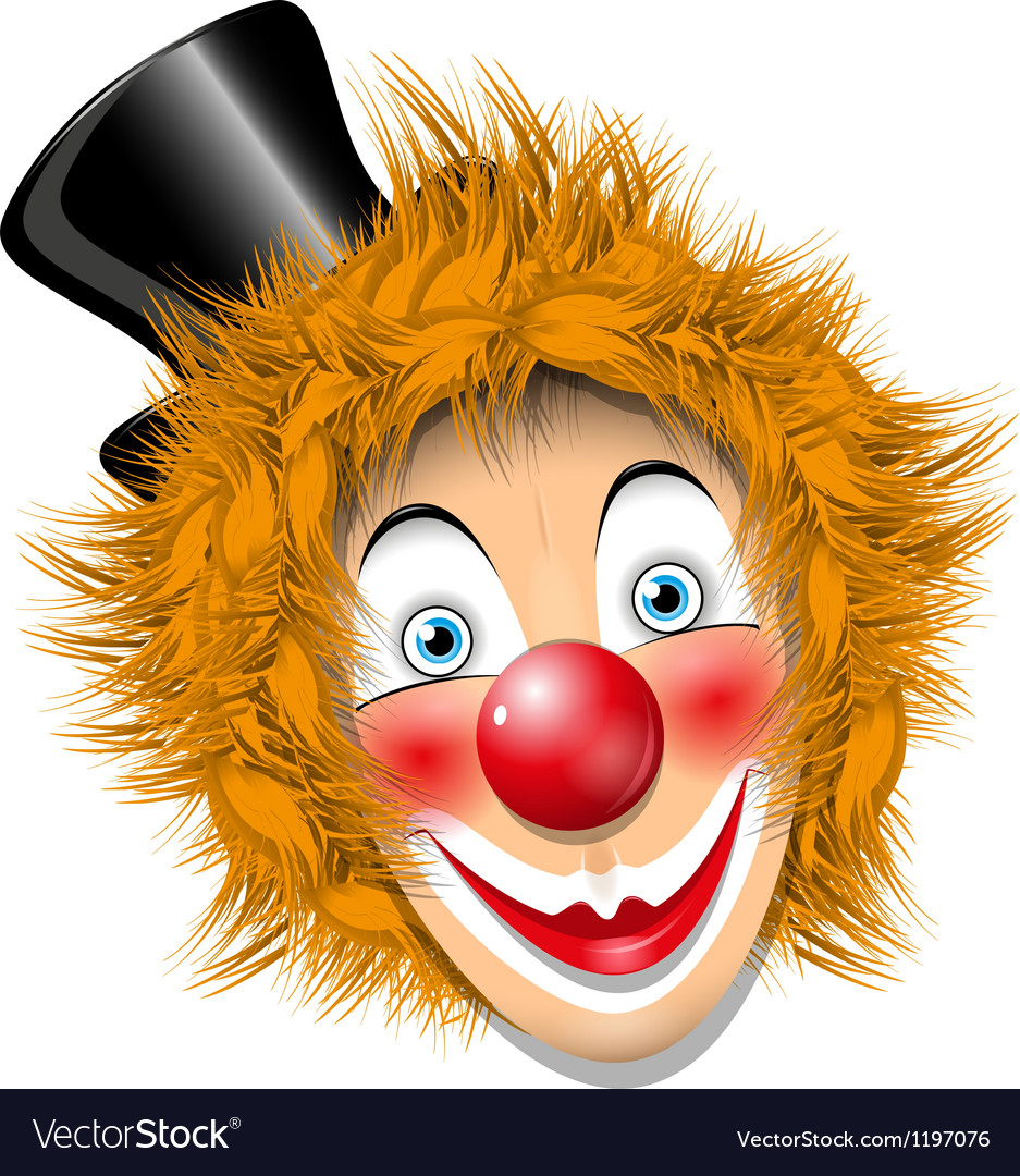 Redheaded clown vector