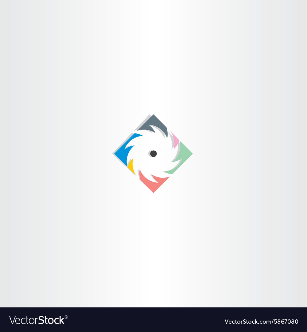 Colorful sawmill logo icon vector