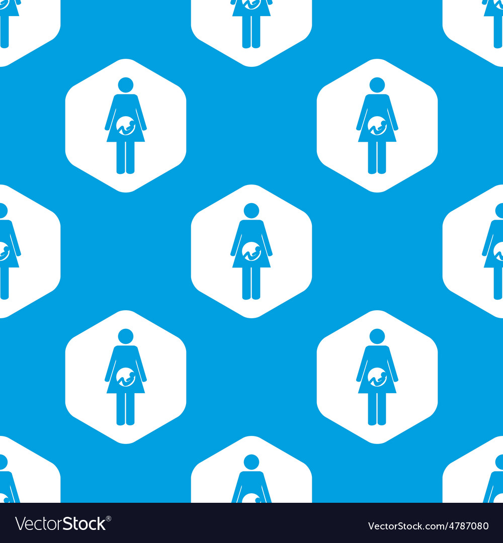 Pregnancy hexagon pattern vector