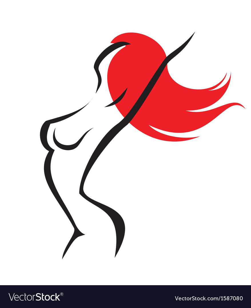 Sexy woman isolated symbol vector