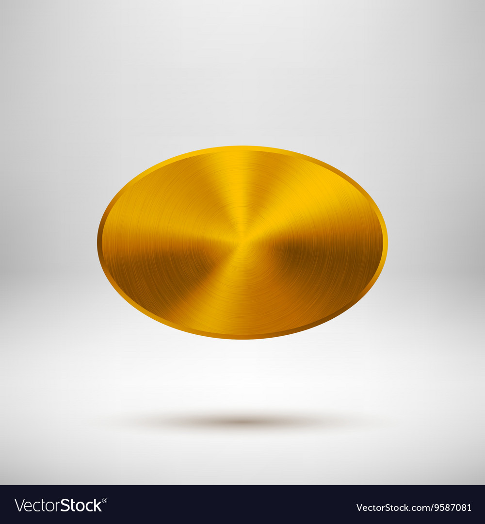 Gold abstract badge template vector