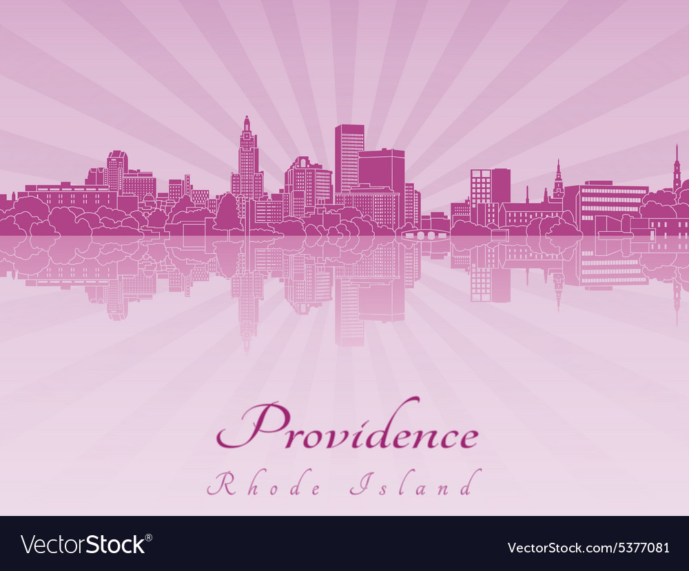 Providence skyline in purple radiant orchid vector