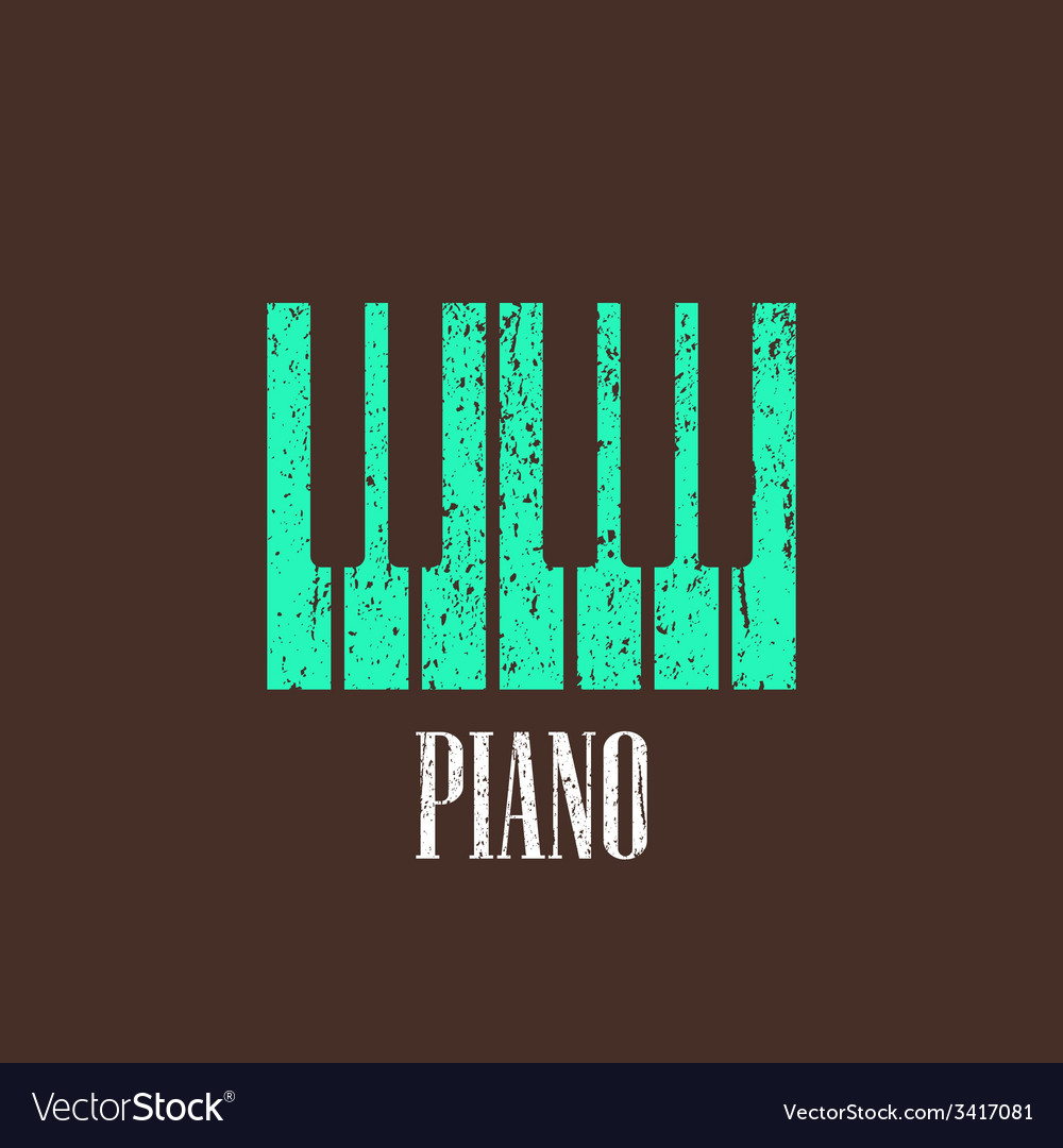 Vintage with piano vector