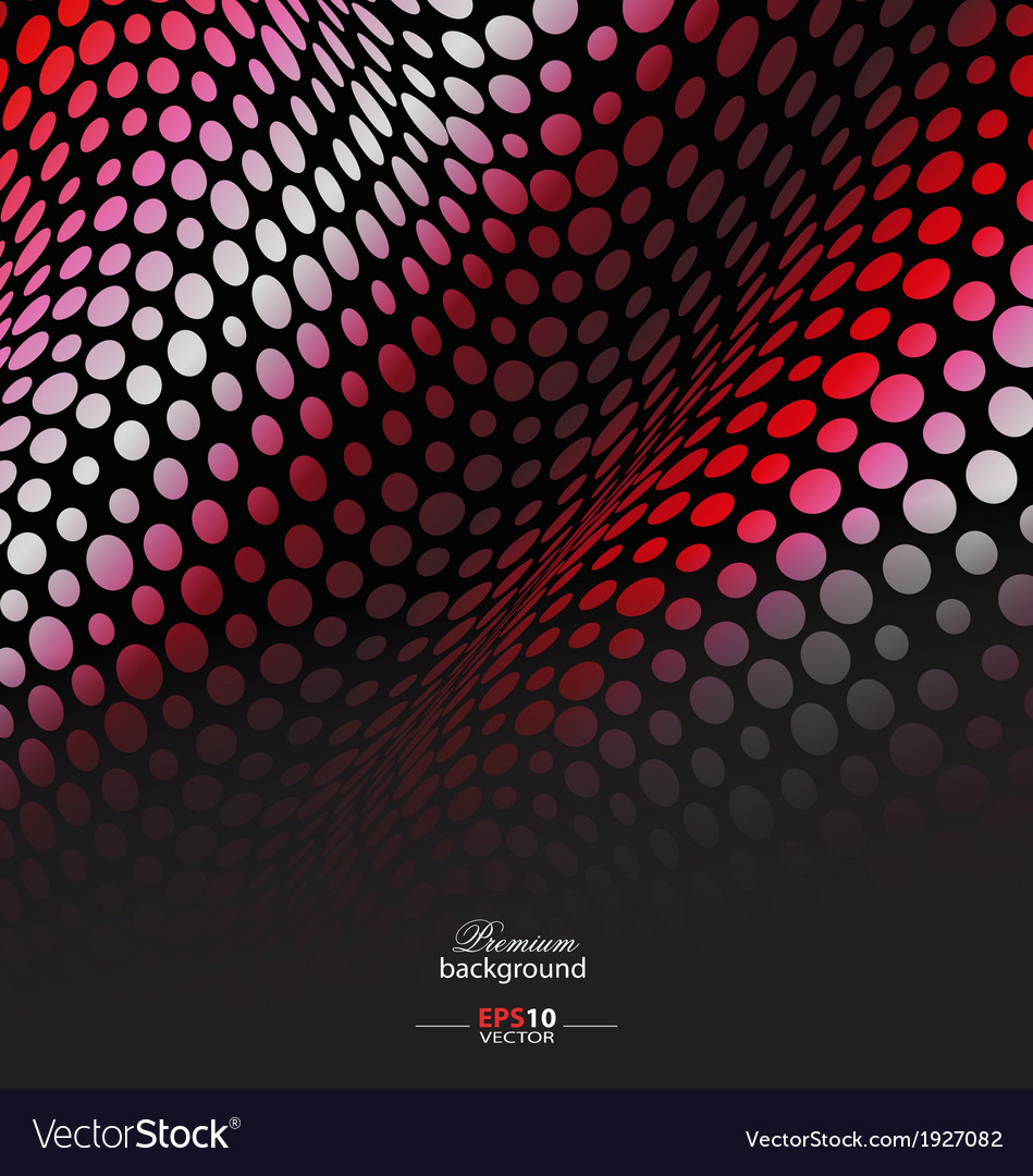 Red geometric abstract background vector