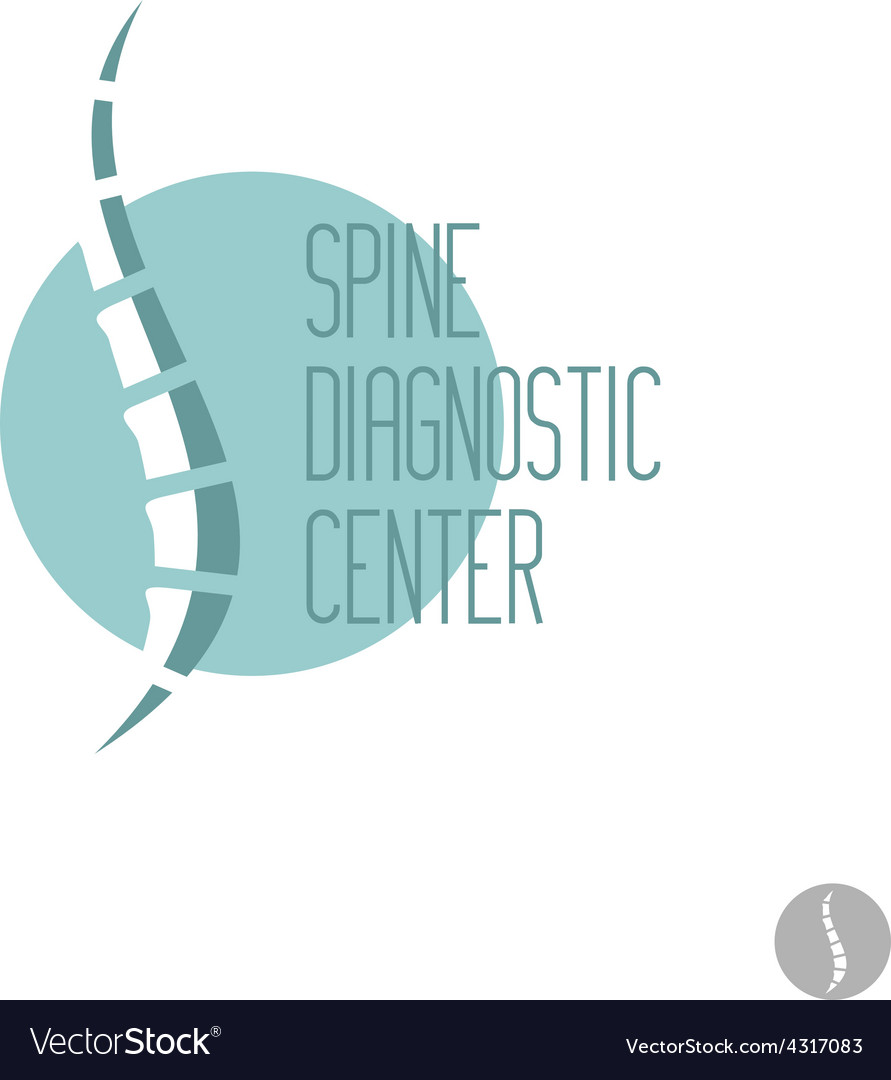 Spine logo template medical diagnosctic care sign vector