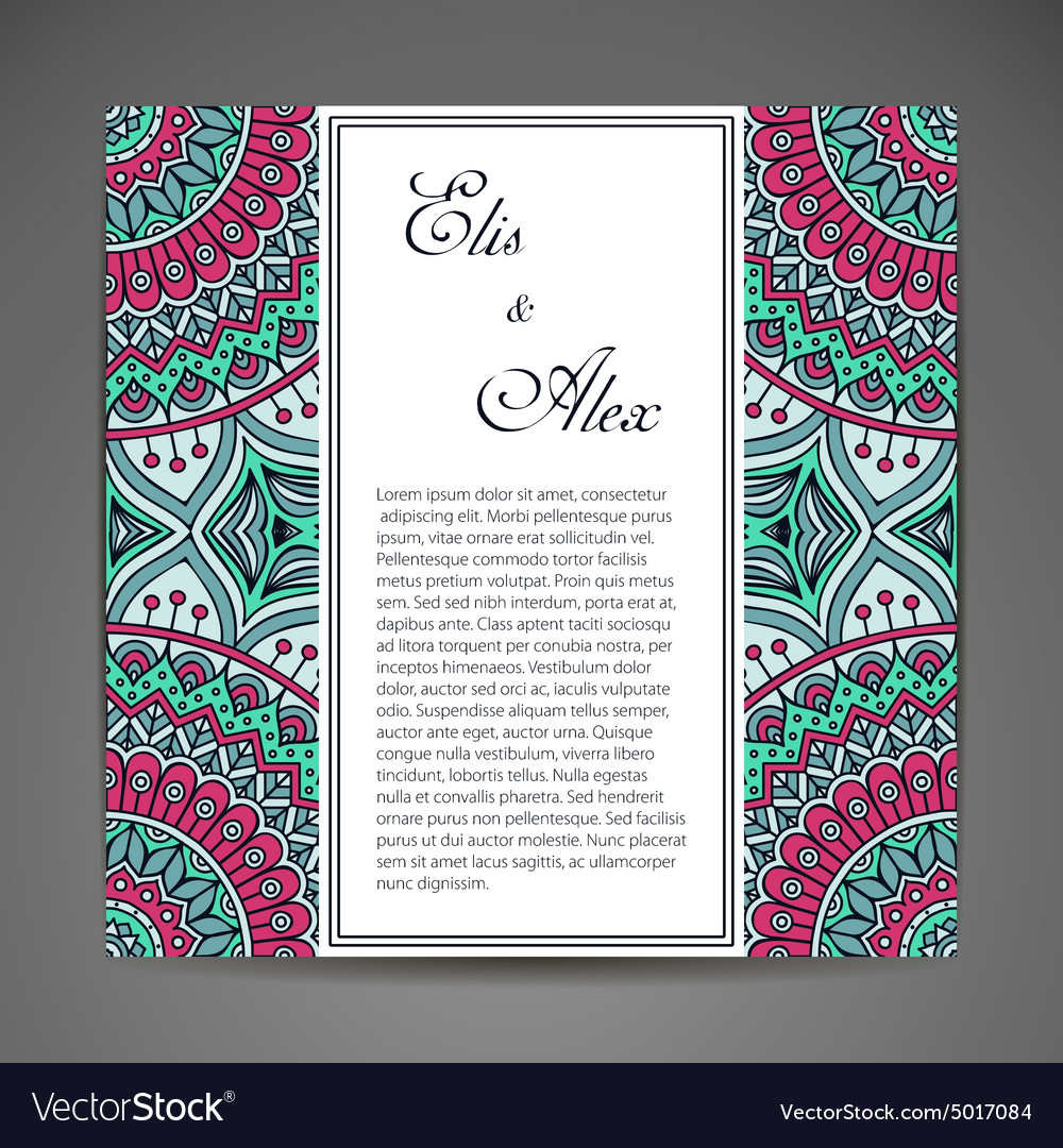 Card or invitation vector