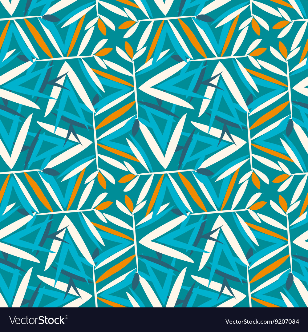 Vintage pattern with art deco motifs vector