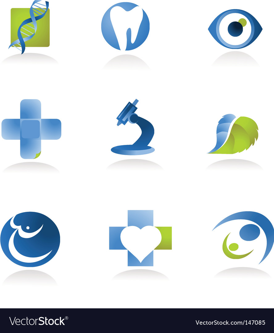Medical research and health icons vector