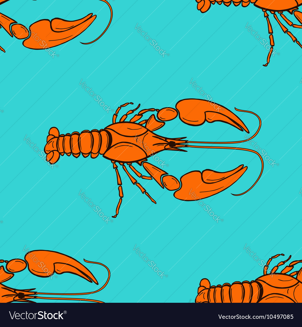 Seamless pattern made from orange cancer vector