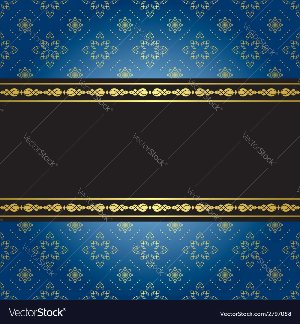 Blue and black vintage background vector