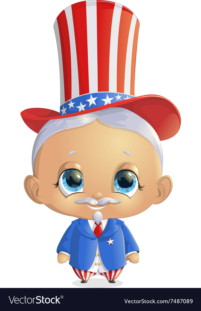 Beautiful character to the president s day vector