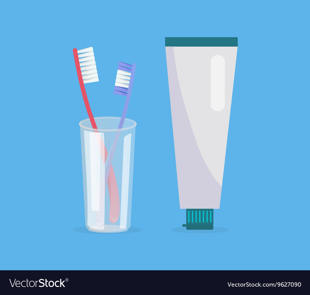 Teeth cleaning concept design banner vector