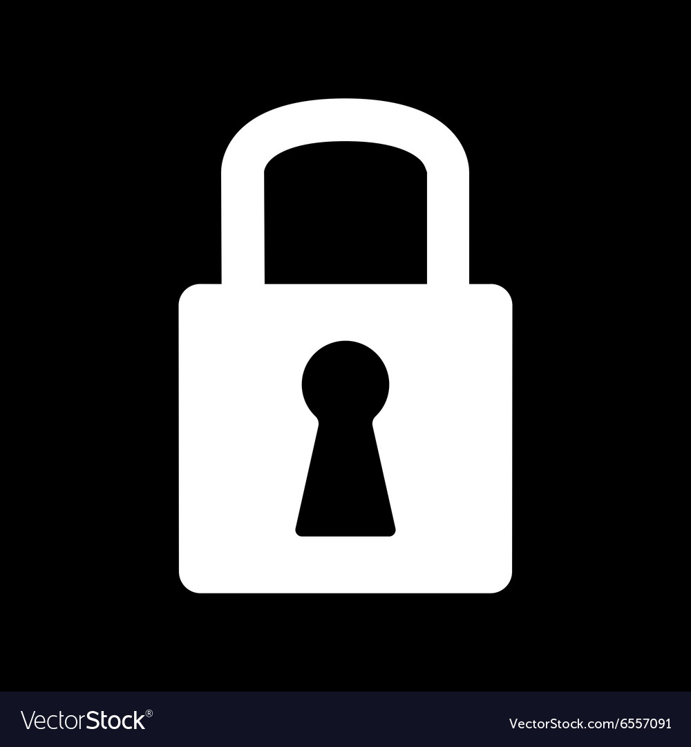 Lock icon lock symbol flat vector