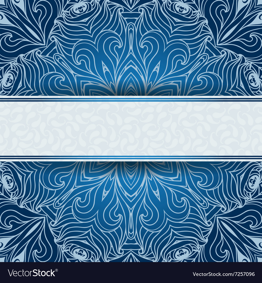 Blue invitation card with place for your text vector