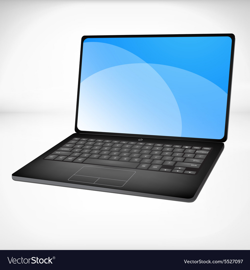 3d rendering of a laptop vector