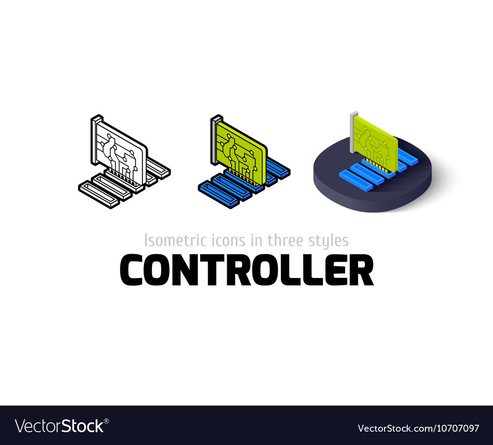 Controller icon in different style vector