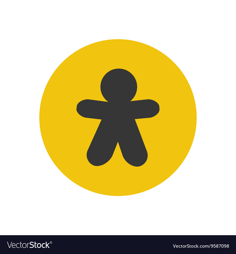 Gingerbread man silhouette vector
