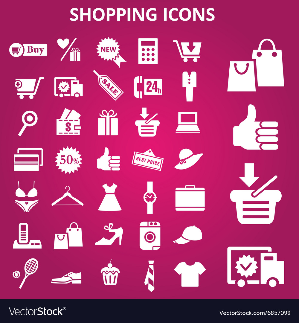 Shoppingicons vector