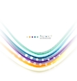 Multicolored lines on white motion concept vector image vector image