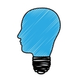 head and lightbulb abstract wisdom icon image vector image