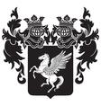 heraldic silhouette No32 vector image