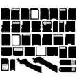 Set of different electronic storage devices vector image