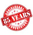 5 years anniversary stamp vector image