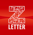 logo of the letter Z floral ornament vector image
