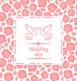 wedding rose vector image vector image