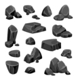 Black Rocks And Stones vector image