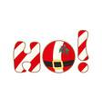 christmas icon ho-ho-ho sign set on white vector image