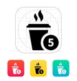 Coffe cup with number icon vector image