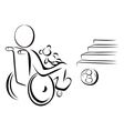 Disabled child vector image