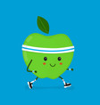fitness sport run apple modern flat vector image