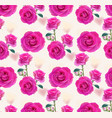 roses and hearts pattern background delicate vector image