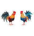 collection of detailed lovely roosters for your vector image vector image