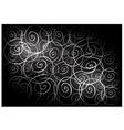Black Vintage Wallpaper with Spiral Pattern vector image vector image