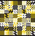 geometric tiles linear seamless pattern vector image