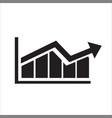 graph bar graph icon vector image