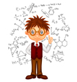 Smart boy cartoon vector image